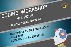 Coding Workshop via Zoom: Create Your Own AI! sumamry image