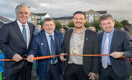 Mayor Cllr. Mark Ward opens new 2G Frame Football pitch in Lucan sumamry image